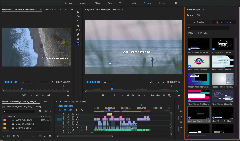 Скриншот программы Adobe Premiere Pro